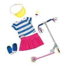 70e8af359e74ff Купити. Набір одягу для ляльок Deluxe з самокатом і аксесуарами - Our  Generation